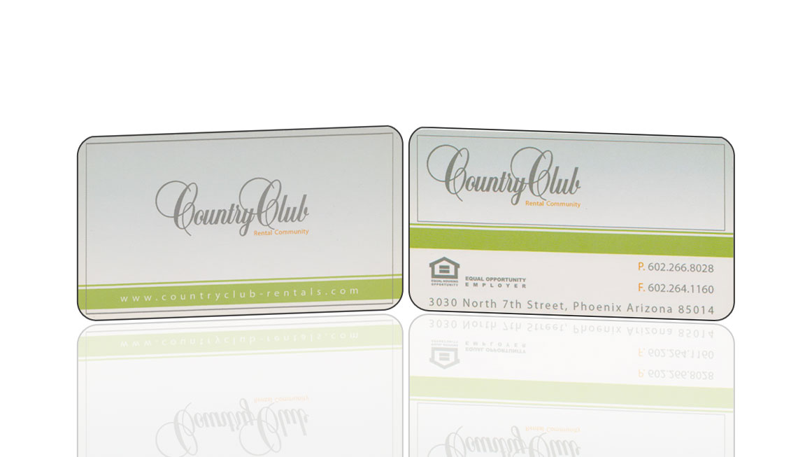Country Club Apartments Business Card